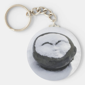 Happy Buddha With Snow Facial Key Chains