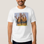 Happy buddhist monks on a roller coaster t-shirts