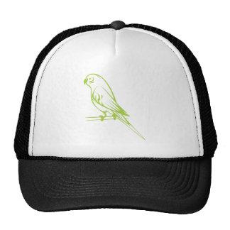 Happy Budgerigar Bird Mesh Hats