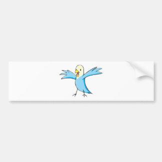 Happy Budgerigar Parrot Bird Cartoon Bumper Sticker
