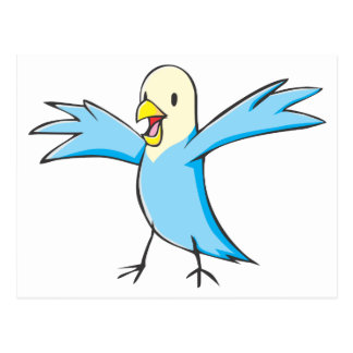 Happy Budgerigar Parrot Bird Cartoon Postcard