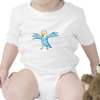 Happy Budgerigar Parrot Bird Cartoon Baby Creeper