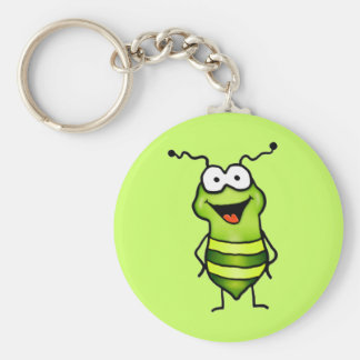 Happy Bug Basic Round Button Key Ring