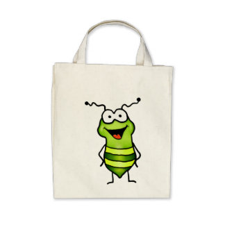 Happy Bug Canvas Bags