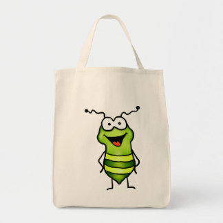 Happy Bug Grocery Tote Bag
