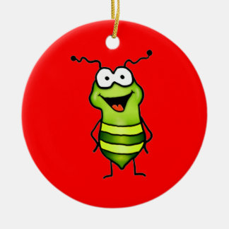 Happy Bug Round Ceramic Decoration