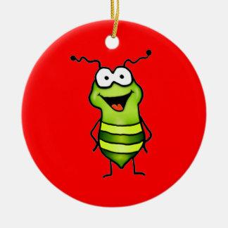Happy Bug Round Ceramic Decoration