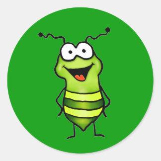 Happy Bug Round Sticker