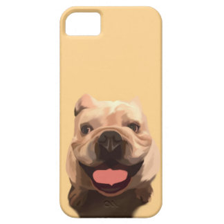Happy Bulldog Barely There iPhone 5 Case