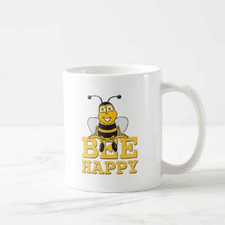 Happy Bumble Bee Basic White Mug