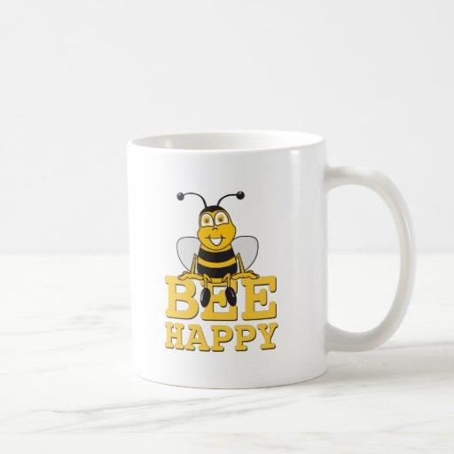 Happy Bumble Bee Coffee Mugs
