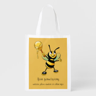 Happy Bumble Bee with a Scoop of Honey Business