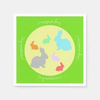 Happy Bunnies Congratulations Paper Napkin