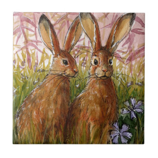 Happy Bunnies design by Schukina A072 Tile