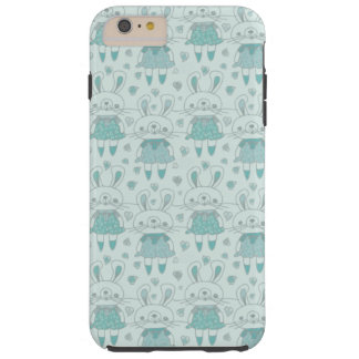 Happy Bunnies in Blue Tough iPhone 6 Plus Case