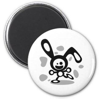 Happy Bunny(Black) Magnet