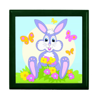 Happy Bunny Butterflies Flowers Giftbox Large Square Gift Box
