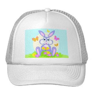 Happy Bunny Butterfly Flowers Cap