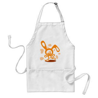 Happy Bunny(Orange) Standard Apron