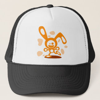 Happy Bunny(Orange) Trucker Hat