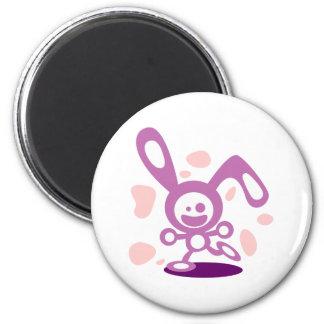 Happy Bunny(Purple) Magnet