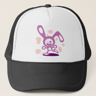 Happy Bunny(Purple) Trucker Hat