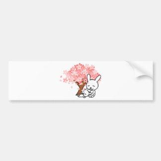 Happy Bunny Rabbits Under a Cherry Tree Bumper Sticker