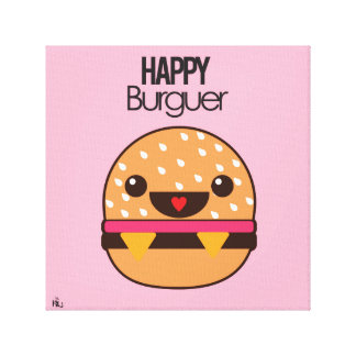 Happy Burguer Canvas Print
