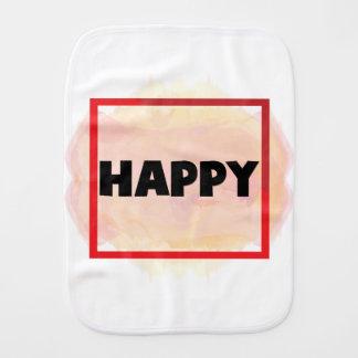 Happy Burp Cloth