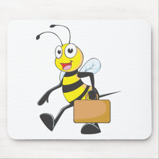 Happy Businessman Bee Mouse Pads