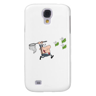 Happy Businessman Chasing Money Galaxy S4 Cover