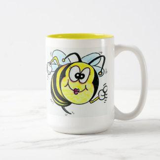 Happy Busy Bee Two-Tone Coffee Mug