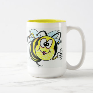 Happy Busy Bee Two-Tone Mug