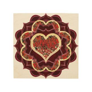 Happy Butterfly Mandala Wood Print
