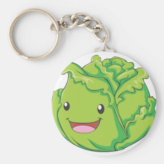Happy Cabbage Vegetable Smiling Keychains