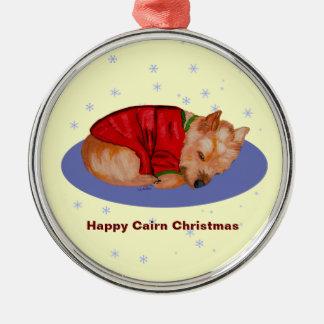 Happy Cairn Christmas Christmas Ornament