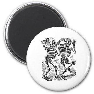 """Happy Calaveras"" Mexico's Day of the Dead 6 Cm Round Magnet"