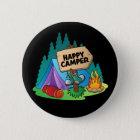 Happy Camper, 2¼ Inch Round Button