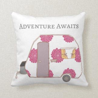 Happy Camper - Adventure Awaits Cushion