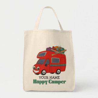 Happy Camper Tote Bags