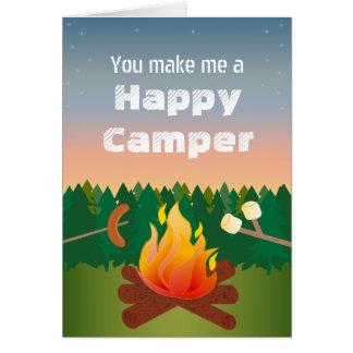 Happy Camper Birthday Greeting Card