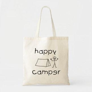 Happy Camper (blk) Tote Bag