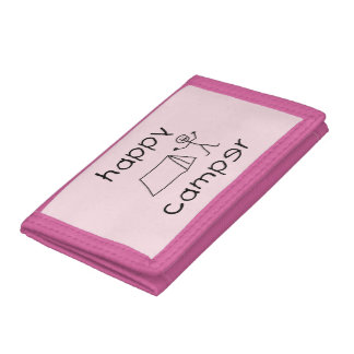 Happy Camper (blk) Tri-fold Wallet
