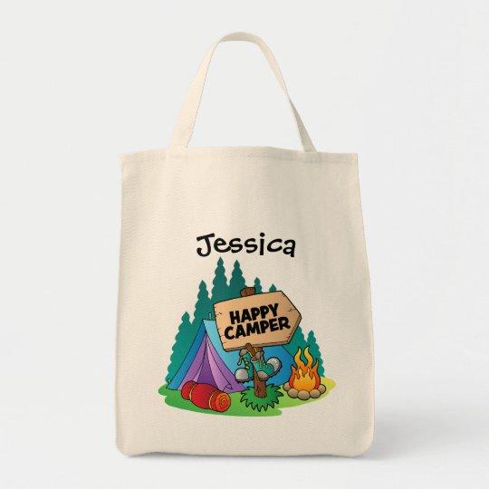 Happy Camper Budget Tote