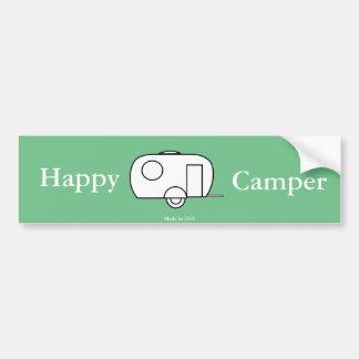 Happy Camper Bumper Sticker
