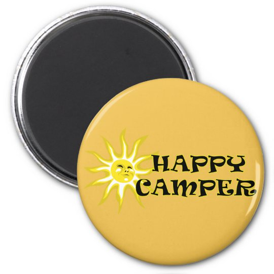 Happy Camper Camping Sunshine Magnet