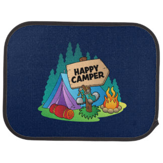 Happy Camper Car Mats (Rear) (set of 2)