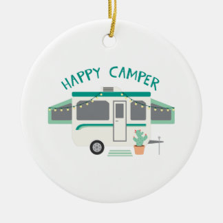 Happy Camper Christmas Ornament