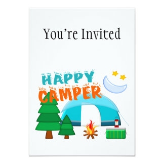Happy Camper Cookout Card