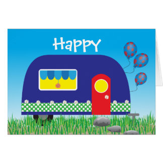Happy Camper Cute Cool Gifts Greeting Card